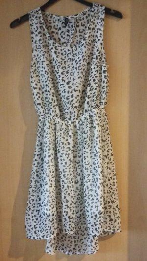 Leopardenmuster-Kleid mit Rückenausschnitt