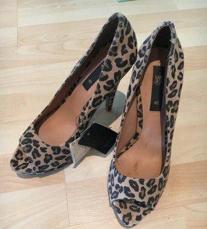 Leopardenpeeptoes nicht getragen
