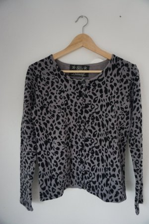 Leopardenprint Strickjacke