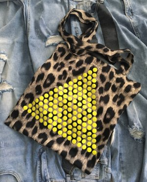 leoprint beutel / tasche / vintage / 90s / 80s / edgy / coolbag / neon