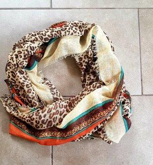 Écharpe ronde brun sable-marron clair