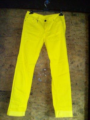 Lerock Jeans in hellgelb