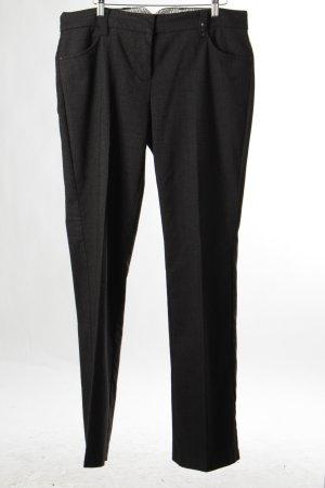 Lerros Bundfaltenhose schwarz-dunkelgrau klassischer Stil