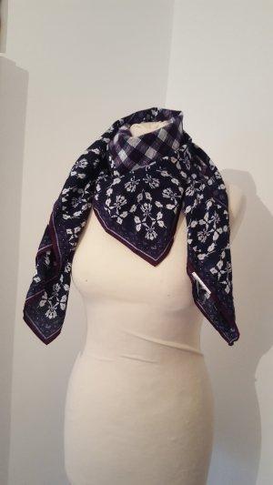 Lerros Damen Halstuch Tuch gemustert Schal dunkelblau lila