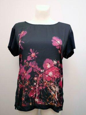 LERROS: Foto Print T-Shirt * Blumen * Dunkelblau * Party * 42 * TOP!