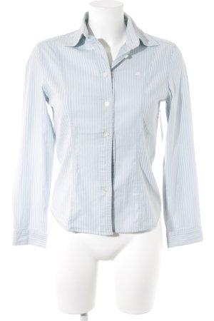 Lerros Hemd-Bluse hellblau-weiß Streifenmuster klassischer Stil