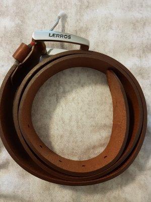 Lerros Leder Gürtel braun 95 cm