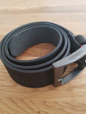 Lerros Leder Gürtel schwarz 100 cm