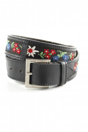 Les Copains Leather Belt flower pattern casual look