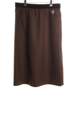 Les Copains Falda midi marrón look casual