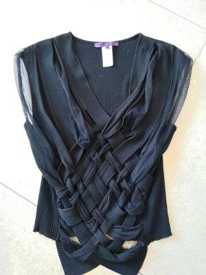 Les Copains Silk Blouse black