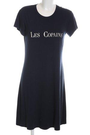Les Copains Shirtkleid schwarz-weiß Schriftzug gedruckt Casual-Look