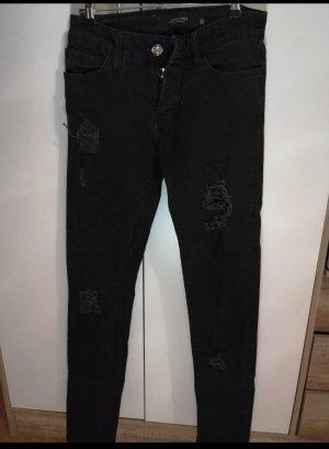 Les Eclaires Drainpipe Trousers black