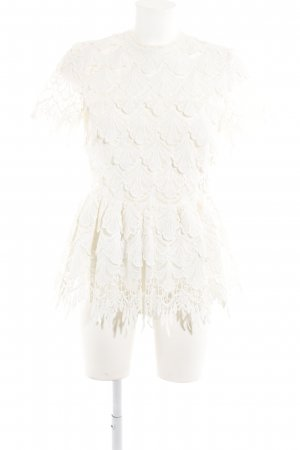 Les Eclaires Spitzenbluse weiß extravaganter Stil