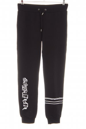 Les Eclaires Sweat Pants black printed lettering casual look