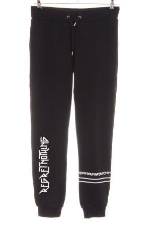 Les Eclaires Pantalone fitness nero caratteri stampati stile casual