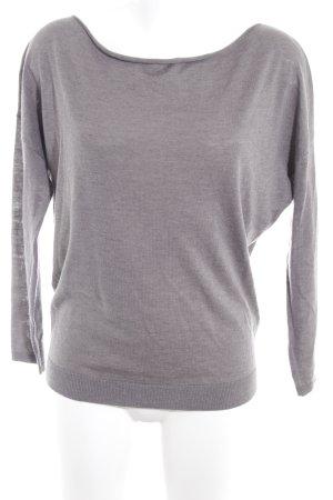 Les Essentiels Kraagloze sweater grijs casual uitstraling