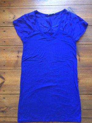 les petites collection: Leuchtend blaues Kleid mit Seide & Jersey, Gr. M/ 36/ 38