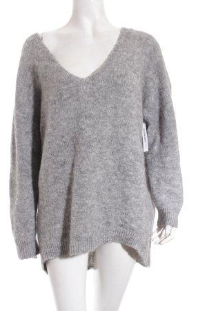 Les Petites Oversized Pullover hellgrau klassischer Stil