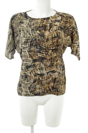 Les petites parisiennes Kurzarm-Bluse abstraktes Muster Casual-Look
