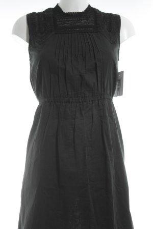 Les petites parisiennes Minikleid schwarz grafisches Muster Elegant