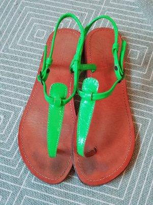 Les Tropéziennes Sandale Sandalen Sandalette Leder Neon Grün 40