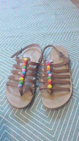 Sandals cognac-coloured