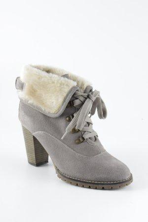 Les Tropéziennes Schlüpf-Stiefeletten grau Street-Fashion-Look