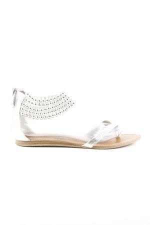 Les Tropéziennes Sandalo toe-post argento stile casual