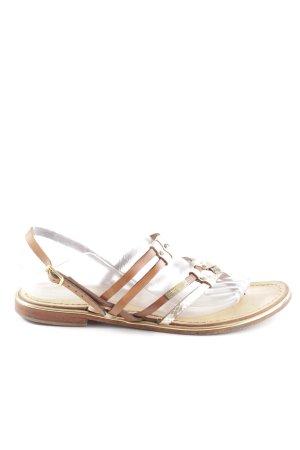 Les Tropéziennes Sandalo toe-post marrone-oro stile casual