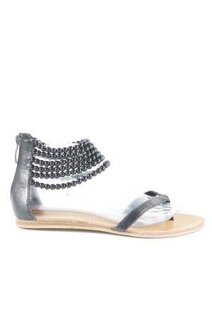 Les Tropéziennes Toe-Post sandals black simple style