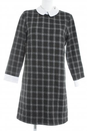 Lesara Sheath Dress black-white check pattern
