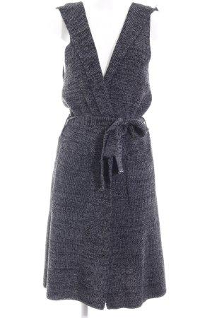Lesara Gilet long tricoté gris foncé style décontracté