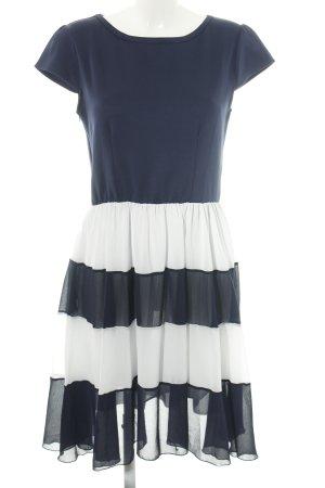 Lesara Midikleid blau-weiß Streifenmuster Casual-Look