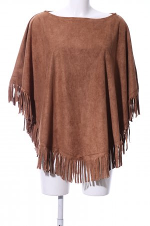 Lesara Poncho light brown country style