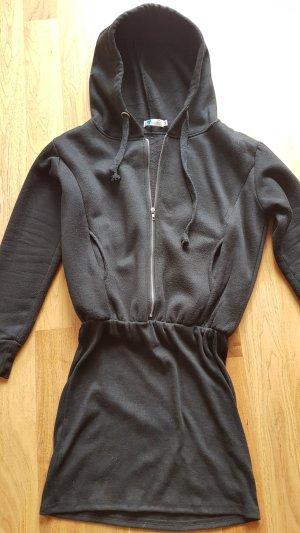 Lesara Sweatshirtkleid mit Reißverschluss und Kapuze