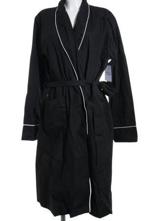 Lesara Übergangsmantel schwarz-weiß Street-Fashion-Look
