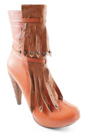Lesille Reißverschluss-Stiefeletten dunkelorange extravaganter Stil