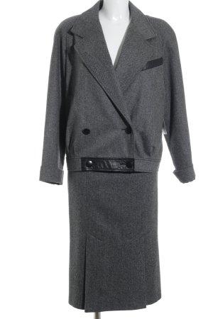 LeTruc Kostüm grau-schwarz Streifenmuster Business-Look