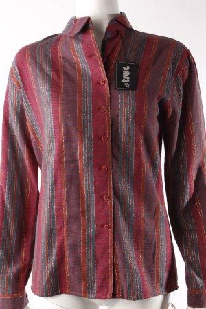 LeTruc Vintage-Bluse Metallicfäden