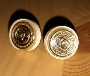 Chanel Orecchino a vite oro-crema