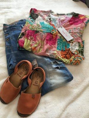 Lindsay Moda Tunic Blouse multicolored viscose