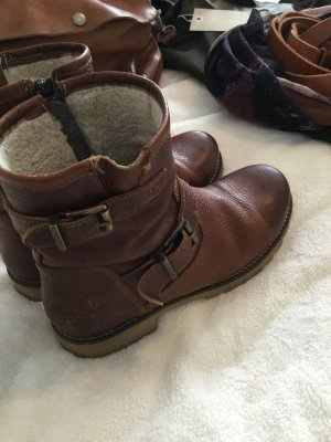 Winter Boots brown-sand brown leather