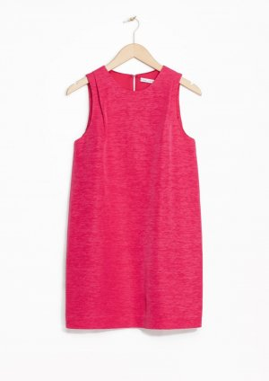 LETZTE CHANCE Kleid &otherstories Etuikleid Pink Koralle XS 34 36