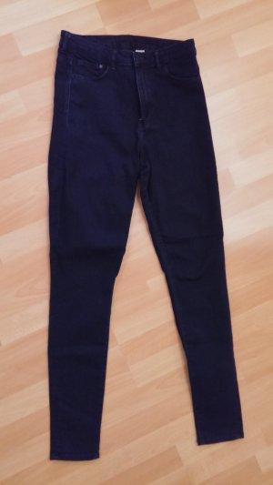 *LETZTE CHANCE* Röhren-Jeans in Dunkelblau, High waist, 30/32