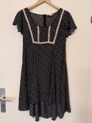 *LETZTE CHANCE* Sommerkleid Dunkelblau-Weiß geblümt von APRICOT