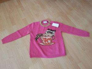 letzte Gelegenheit! - Pullover aus Wollstrick mit ignasi monreal motiv