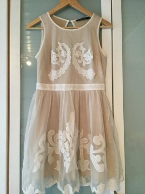 Ark & Co Vestido de cóctel blanco puro-beige