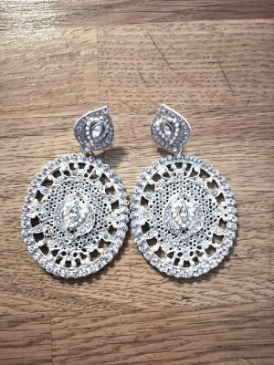 Statement Earrings silver-colored metal