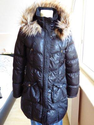 Letzte Reduzierung Amisu gefütterte Jacke schwarz glänzend Gr. 36